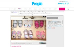 DeAnna Stagliano using Mabel's labels products in a People Magazine Article