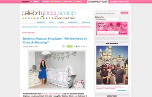 DeAnna Stagliano using Mabel's labels products in a Celebrity Baby Scoop Blog Article