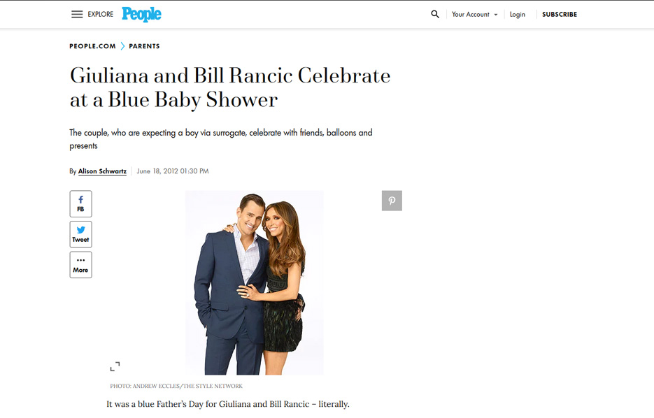 Guiliana Rancic using Mabel's labels products in a People Magazine Article