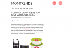 Mabel's labels products in a Mom Trends Blog Article