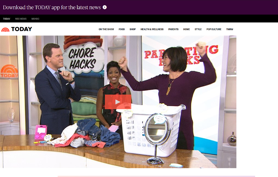 Mabel's labels products in the Today TV Show