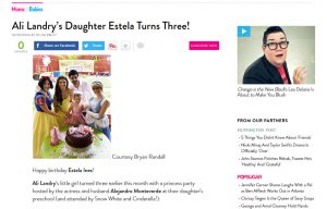 Ali Landry using Posh Mommy products in a Mom and Babies Blog Article