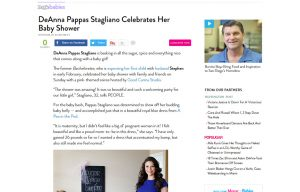 DeAnna Stagliano using Posh Mommy products in a People Babies Blog Article