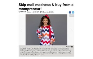 Posh Mommy products in a HLN Blog Article