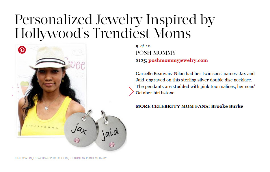 Posh Mommy products in a In Style Magazine Article