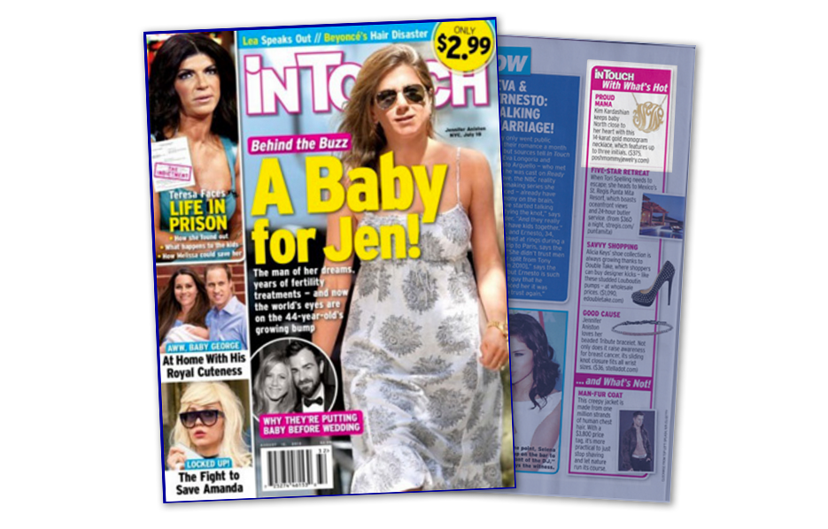 Posh Mommy products in a InTouch Magazine Article