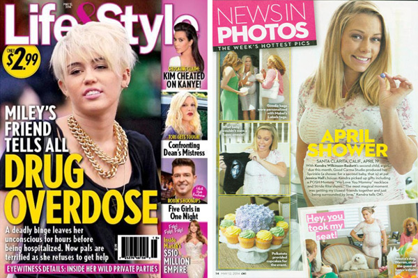 Kendra Wilkinson using Posh Mommy products in a Life and Style Magazine Article