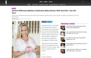 Kendra Wilkinson using Posh Mommy products in a E! News Blog Article