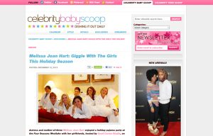Melissa Joan using Posh Mommy products in a Celebrity Baby Scoop Blog Article