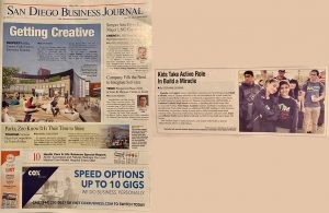 Daniella and Gabriel Benitez in a San Diego Business Journal Article