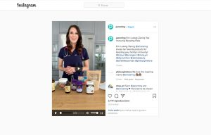 Parenting Magazine mentioning Aloisia Beauty in a instagram post