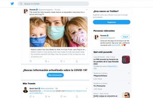 Parents Magazine Mentioning Mabel´s Labels Face Masks in a Twitter Post
