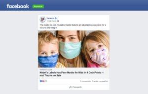 Parents Magazine Mentioning Mabel´s Labels Face Masks in a Facebook Post