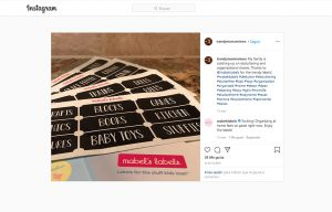Trendy mom reviews mentioning Mabel´s Labels in a Instagram Post