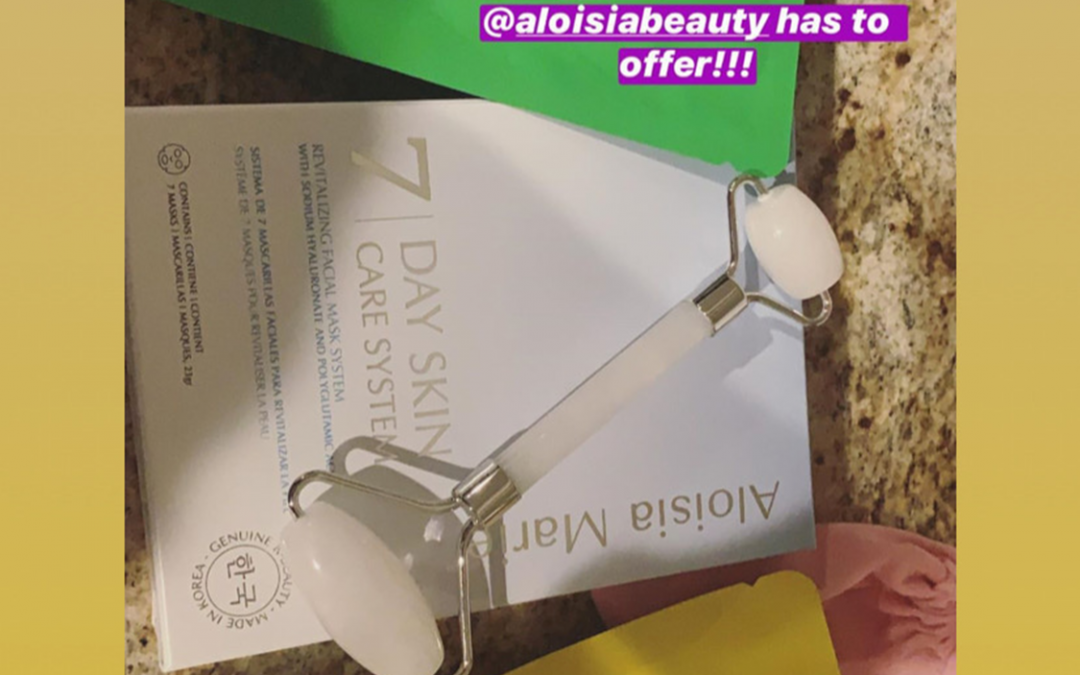 Ami Desai mentioning Aloisa Beauty in her Instagram Stories