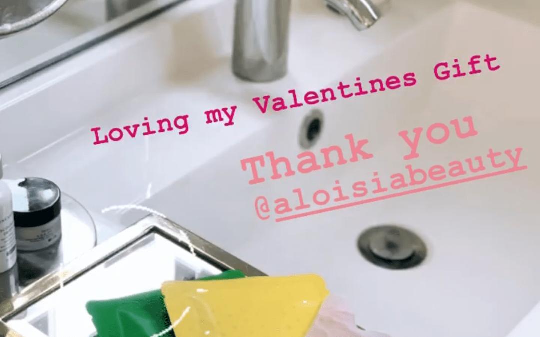 Erin Ziering mentioning Aloisa Beauty in her Instagram Stories