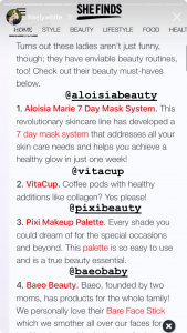 Haely white mentioning Aloisa Beauty and VitaCup in her Instagram Stories