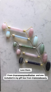 Jennifer Stano mentioning Aloisa Beauty in her Instagram Stories