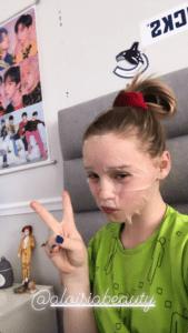 Naomi Priestley mentioning Aloisa Beauty in her Instagram Stories