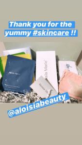 Tarryn Feldman mentioning Aloisa Beauty in her Instagram Stories