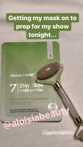 Tori Spelling mentioning Aloisa Beauty and GG Benitez in her Instagram Stories