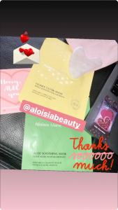 Tara Wallace Mentioning Aloisia Beauty in her instagram Stories