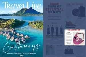 The Sash Bag Products in Travel Life Magazine Article