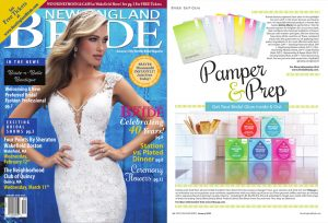 Aloisia Marie Beauty Korean Skincare and Vita Cup products in New England Bride Magazine Article